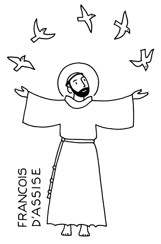 st francis of assisi coloring page st francis of assisi coloring page printable page of francis assisi st coloring