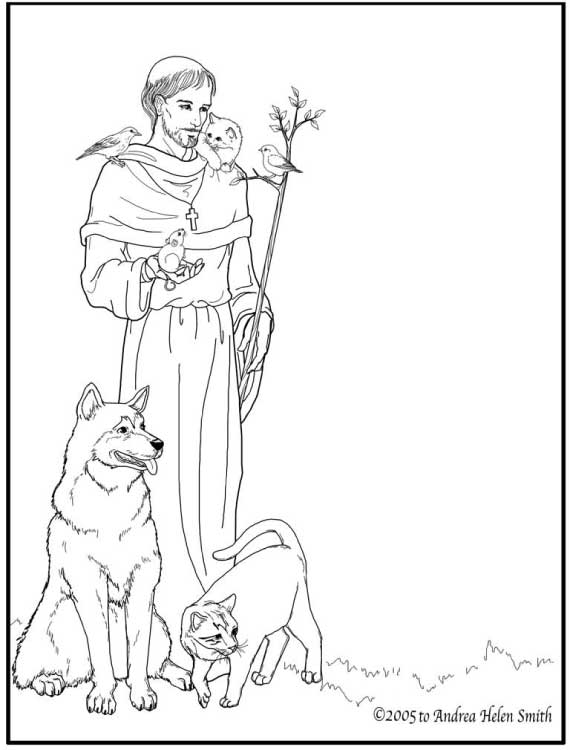 st francis of assisi coloring page st francis of assisi coloring pages for catholic kids coloring francis assisi page st of