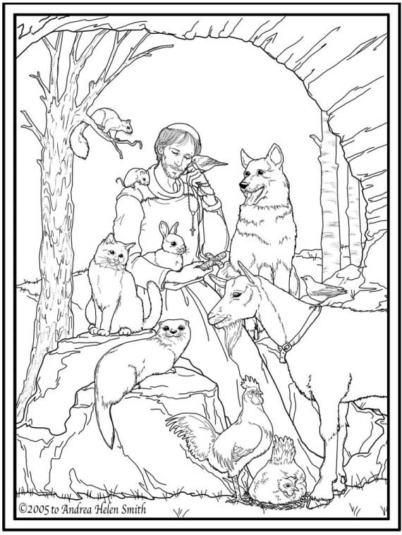 st francis of assisi coloring page st francis of assisi coloring pages for catholic kids page assisi francis of st coloring