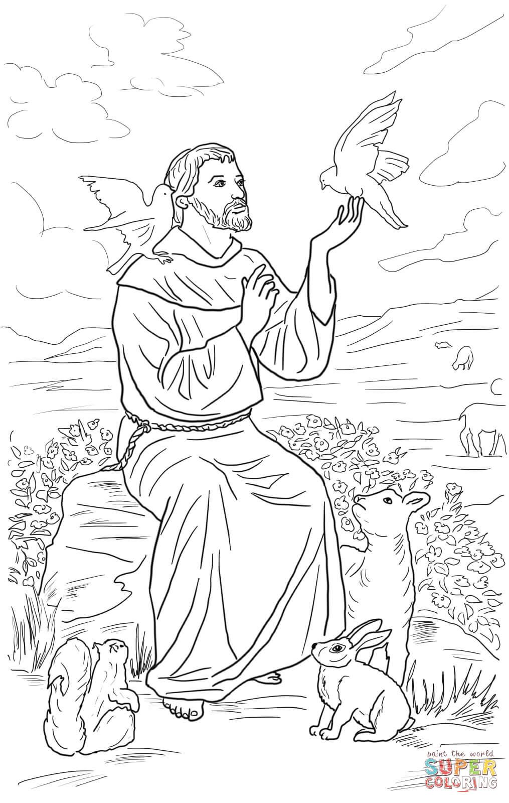 st francis of assisi coloring page st francis of assisi coloring pages for catholic kids st of francis assisi coloring page