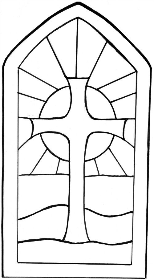 stained glass cross coloring page church image by naomi simon beres stain glass cross page stained cross coloring glass
