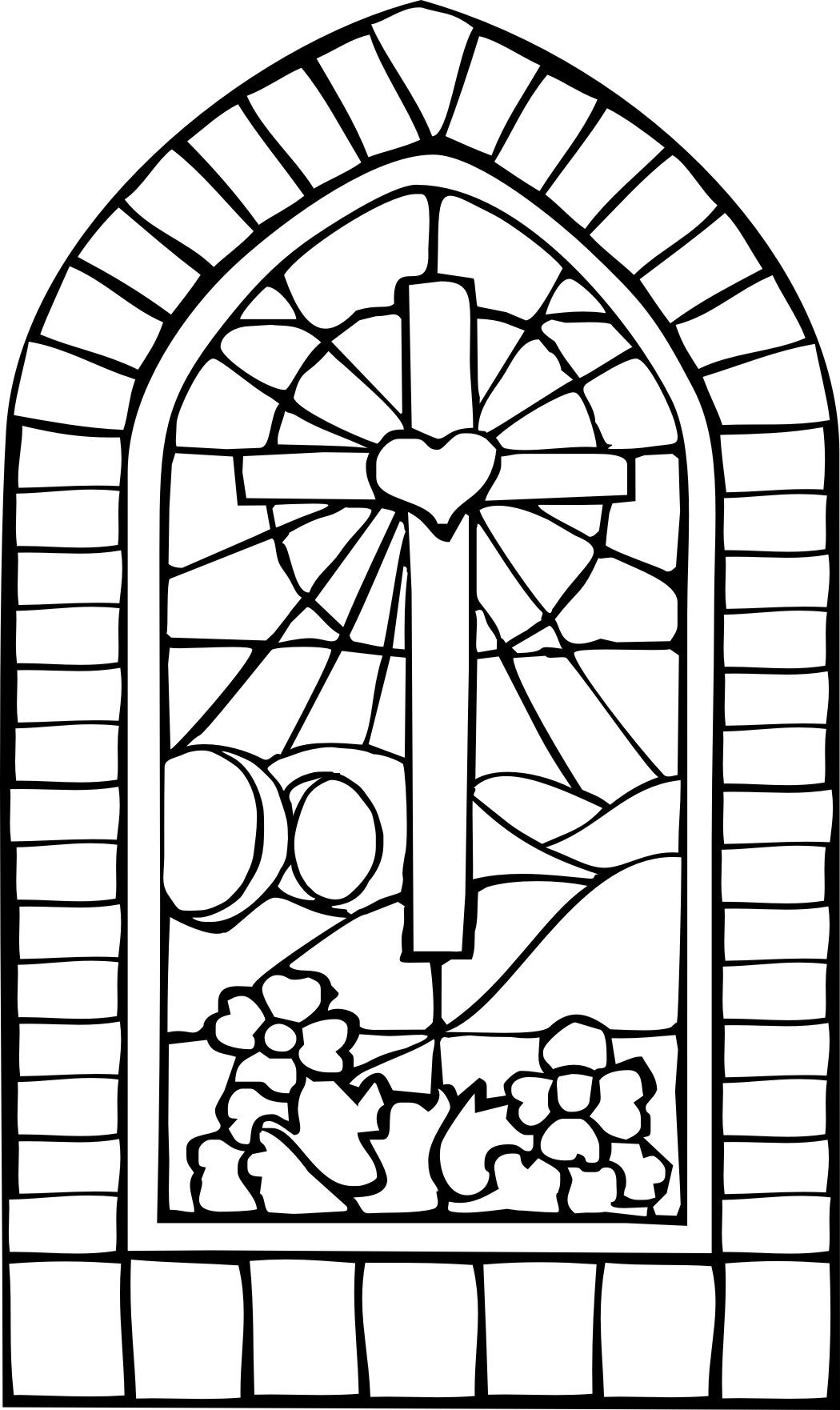 stained glass cross coloring page dibujos para colorear de cruces de mayo coloring glass page stained cross