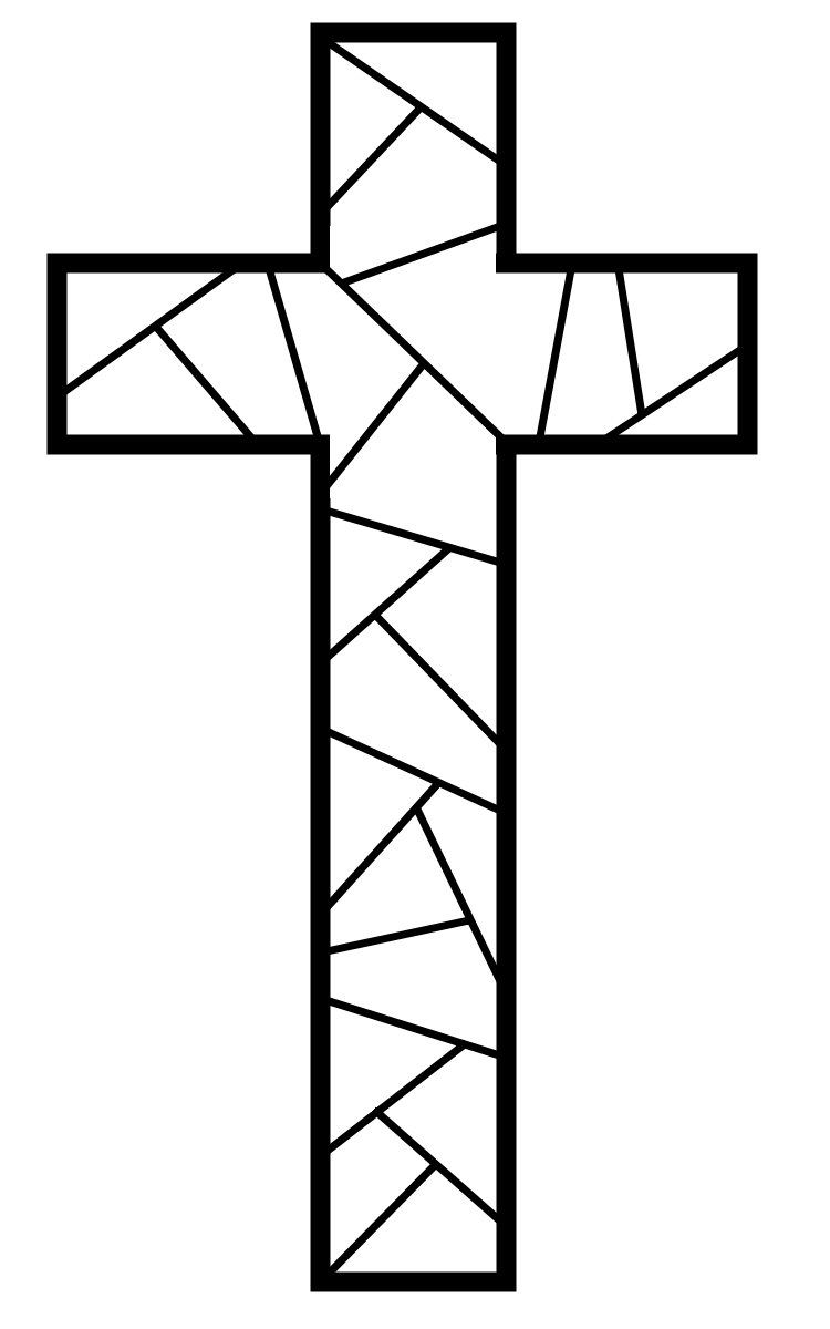 stained glass cross coloring page free printable cross coloring pages cross coloring page coloring stained cross glass page