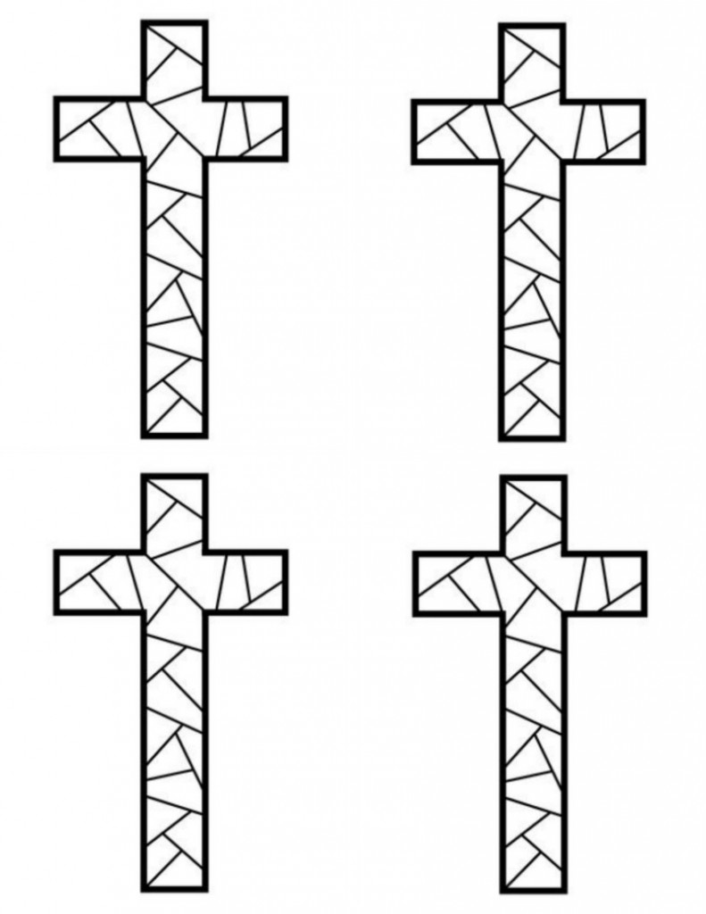 stained glass cross coloring page free printable cross coloring pages for kids cool2bkids cross stained page glass coloring