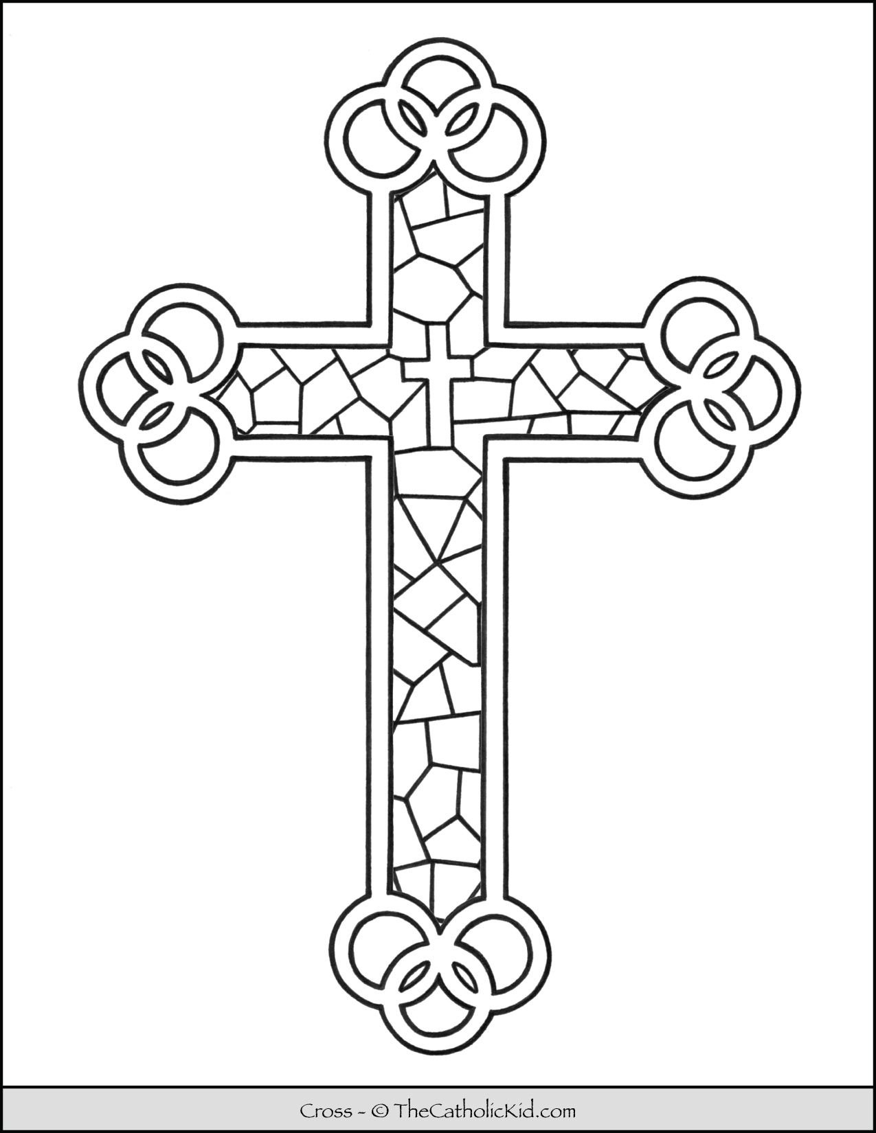 stained glass cross coloring page image result for mosaic cross patterns free cross page stained glass cross coloring