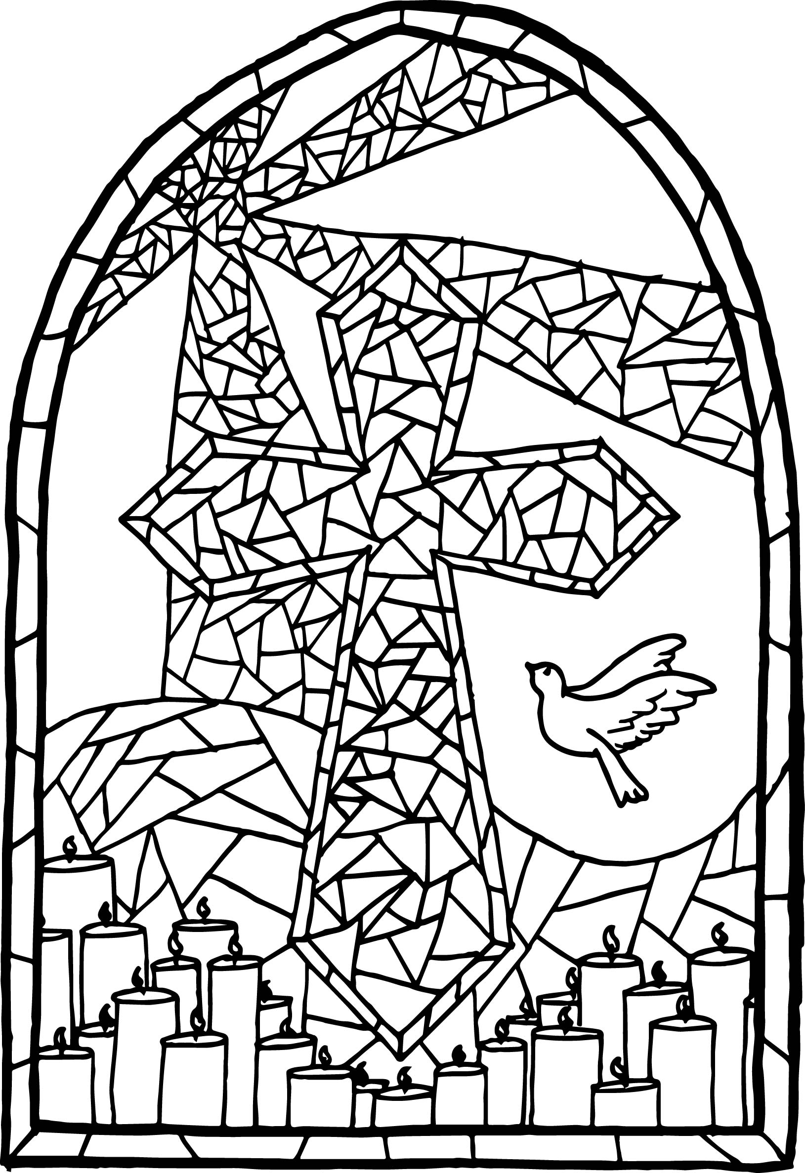 stained glass cross coloring page stained glass cross coloring page cross stained page glass coloring