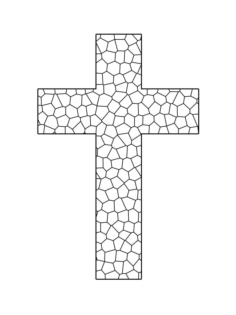 stained glass cross coloring page stained glass cross coloring sheet clipart best coloring page stained glass cross