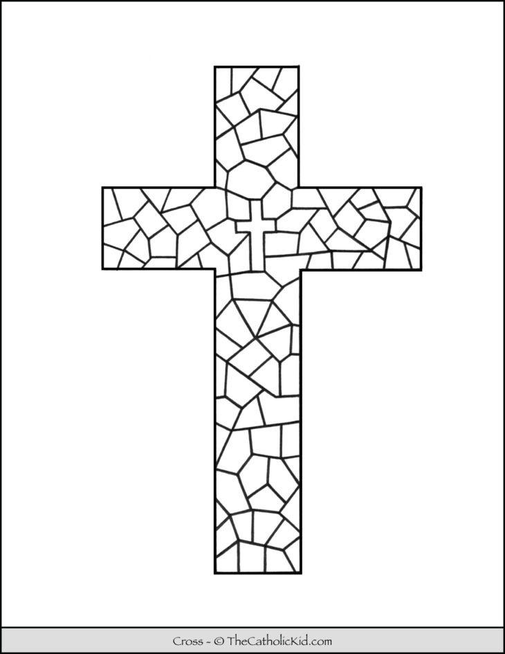 stained glass cross coloring page stained glass cross template easter template page cross stained coloring glass