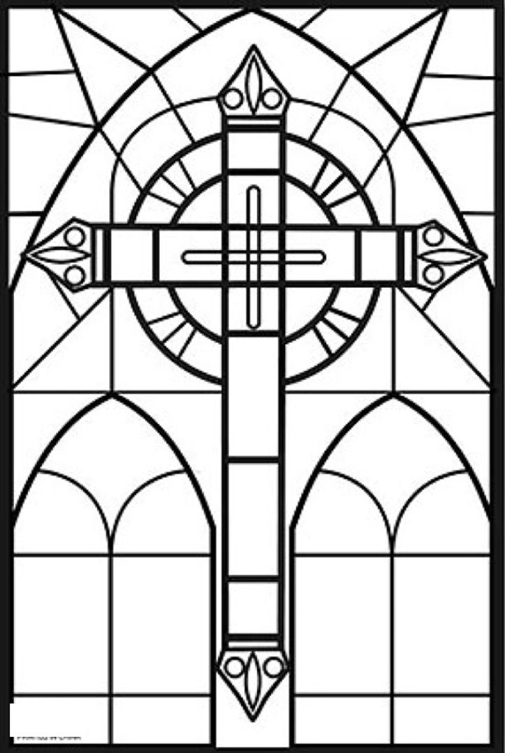 stained glass cross coloring page top 10 free printable cross coloring pages online stained coloring page cross glass