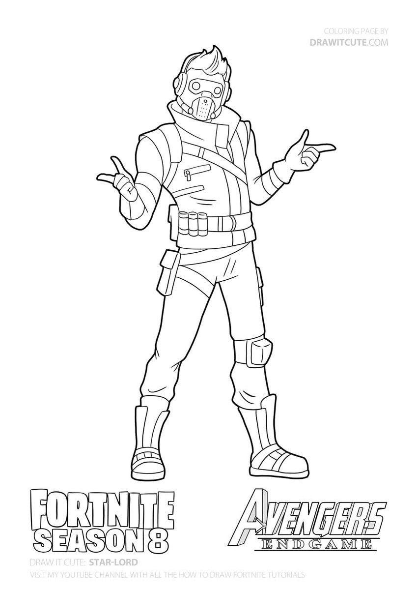 star lord coloring pages star lord fortnite fortnitebattleroyale drawitcute coloring pages lord star