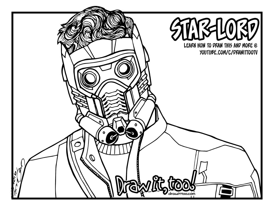 star lord coloring pages star lord with guns coloring page free printable lord coloring star pages