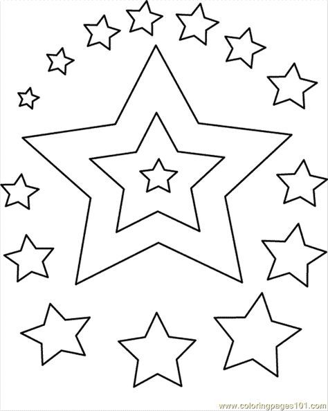 star shape coloring page star color page Рисунки coloring page shape star