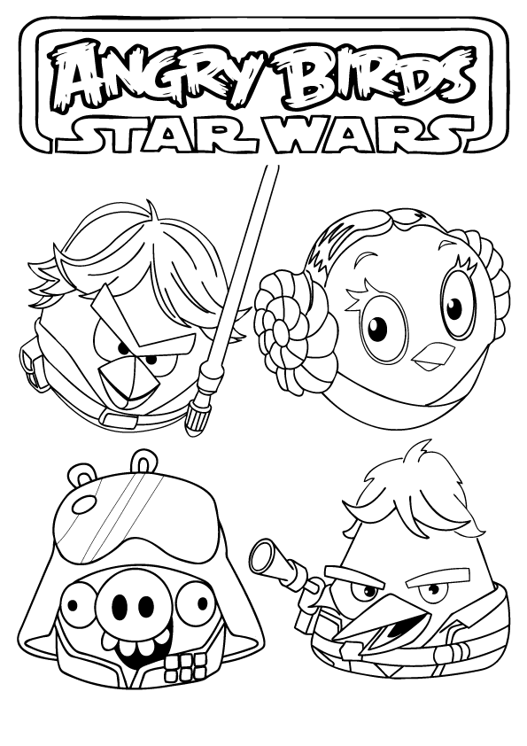 star wars angry birds coloring pages angry birds star wars coloring pages free vingel birds wars coloring star pages angry