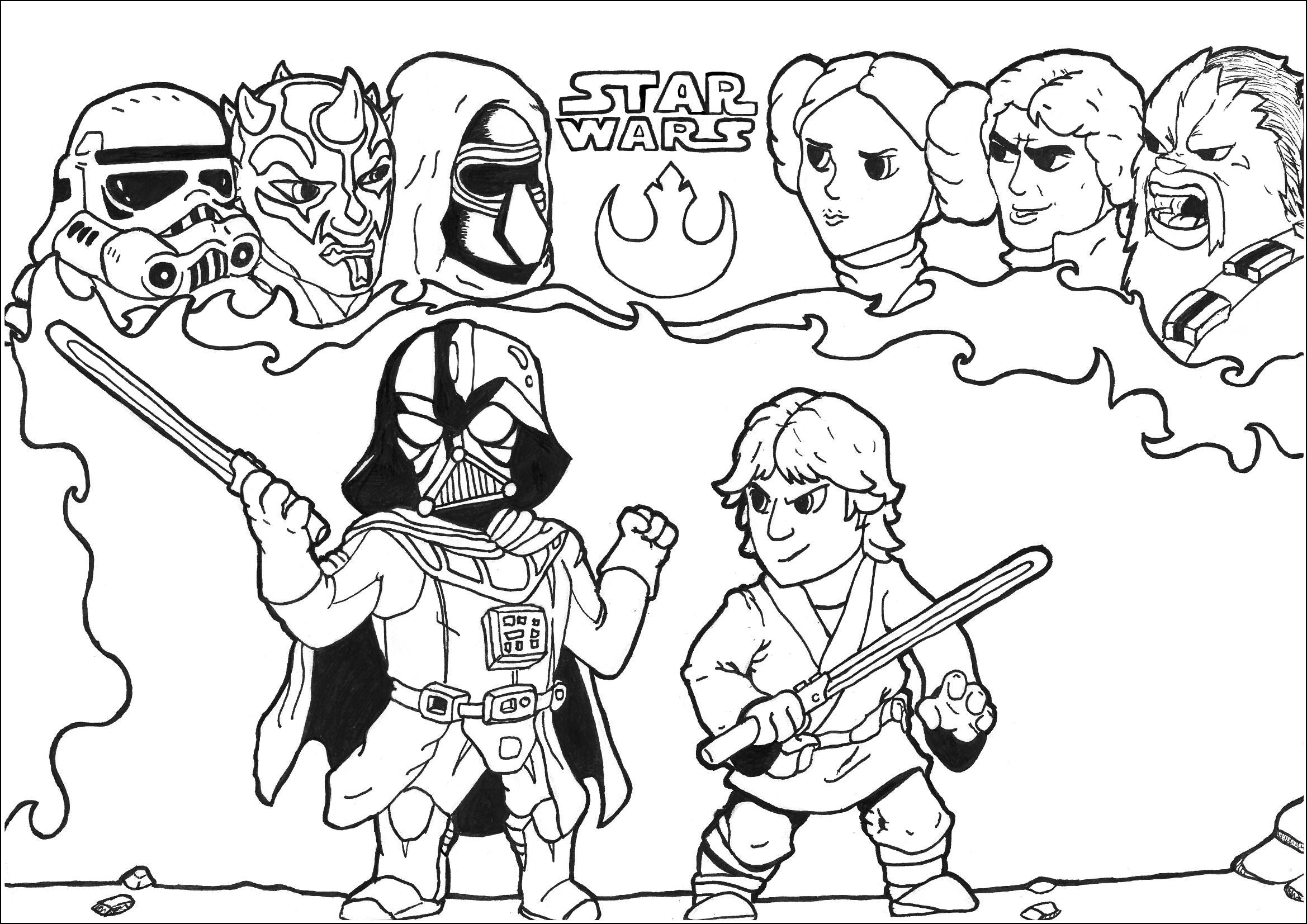 star wars pictures to print and color star wars the force awakens bb 8 coloring pages free color to star wars print pictures and