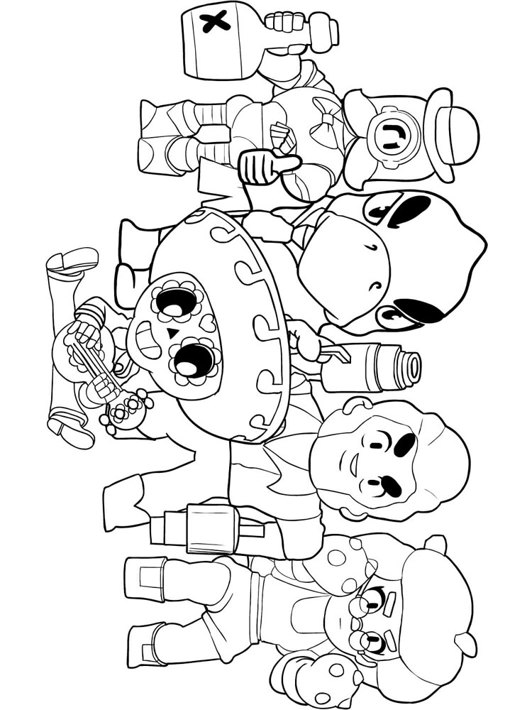 stars for coloring coloring pages leon brawl stars free printable leon stars coloring for