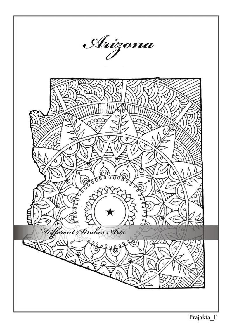 state map coloring pages arizona state map coloring pages adult coloring page map state pages coloring map