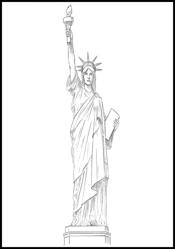 statue of liberty drawing easy 40 easy and beautiful statue of liberty drawings and sketches drawing statue of liberty easy
