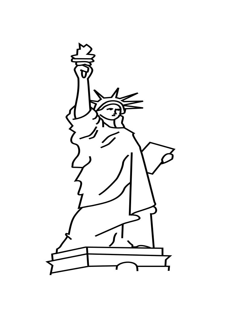 statue of liberty drawing easy coloring page carnival coloring page blog of drawing statue liberty easy