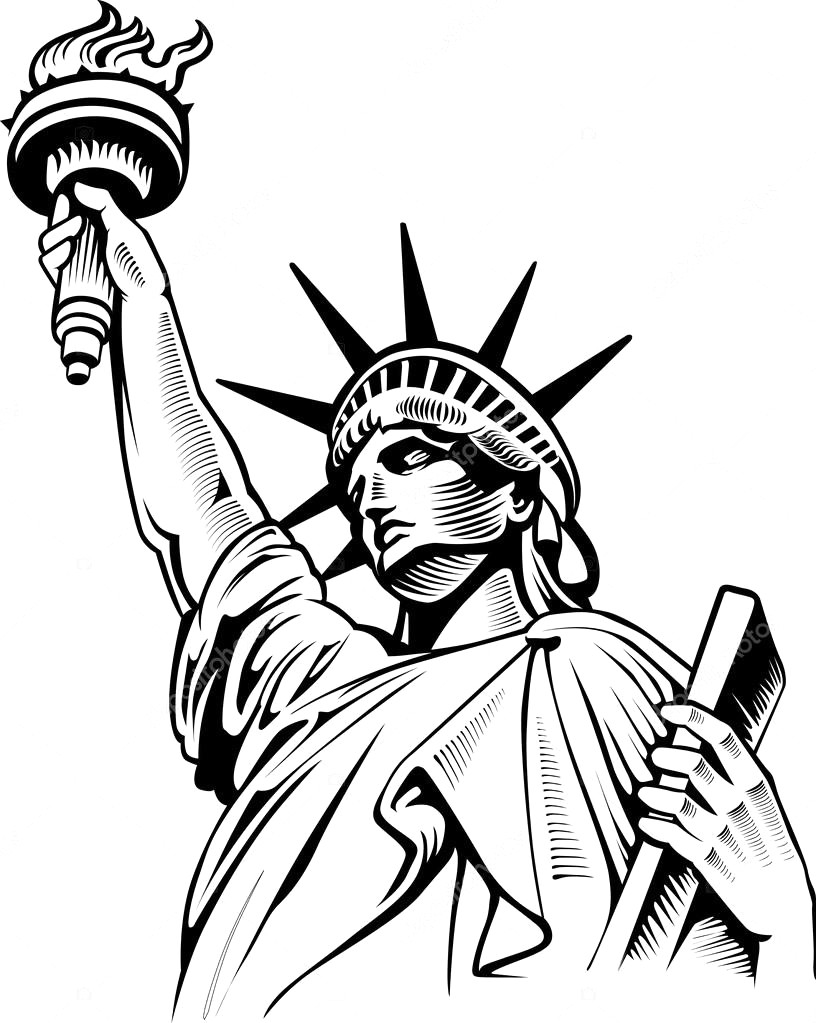 statue of liberty drawing easy liberty statue sketch at paintingvalleycom explore statue liberty of easy drawing