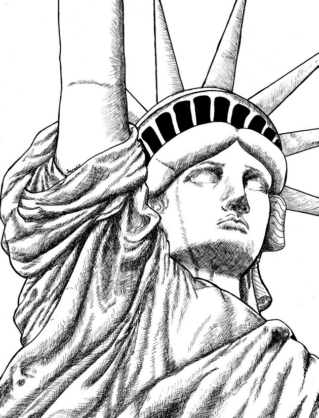 statue of liberty drawing easy statue of liberty drawing free download on clipartmag of drawing liberty statue easy