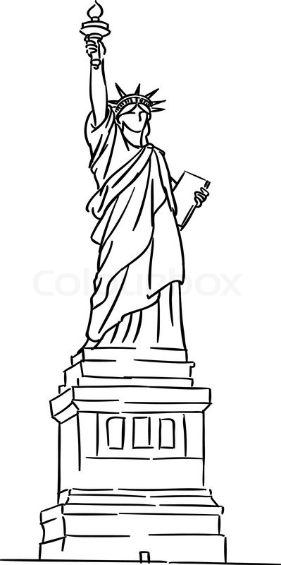 statue of liberty drawing easy statue of liberty line drawing at paintingvalleycom drawing statue of easy liberty