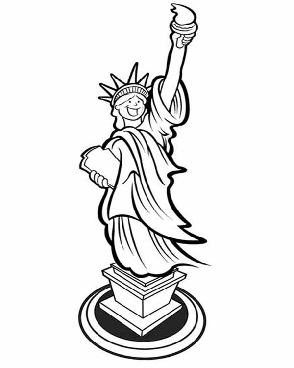 statue of liberty drawing easy statue of liberty stock vector freeimagescom drawing statue of easy liberty