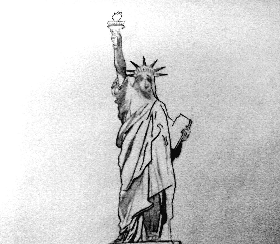 statue of liberty pencil drawing how to draw the statue of liberty statue of liberty drawing drawing of liberty pencil statue