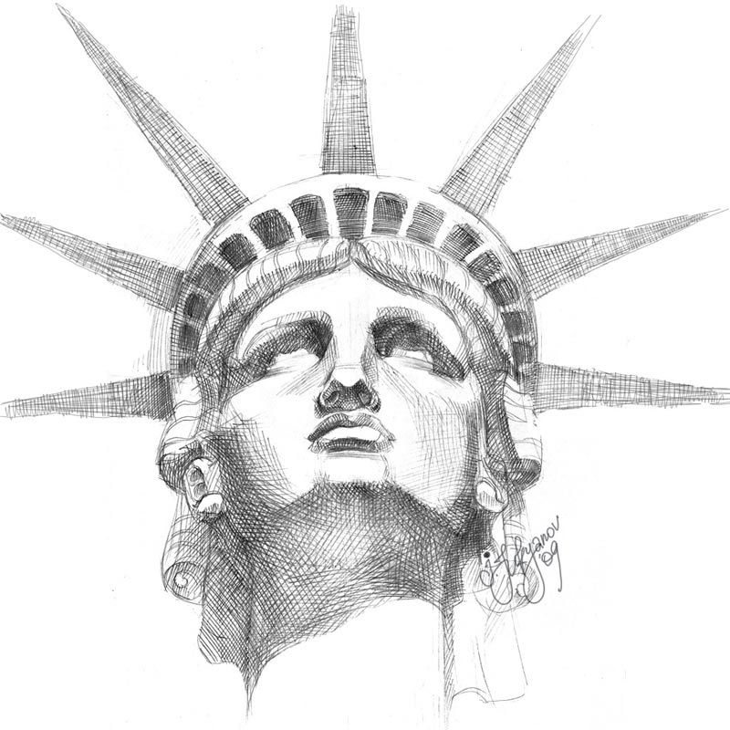 statue of liberty pencil drawing liberty statue sketch at paintingvalleycom explore statue of drawing pencil liberty