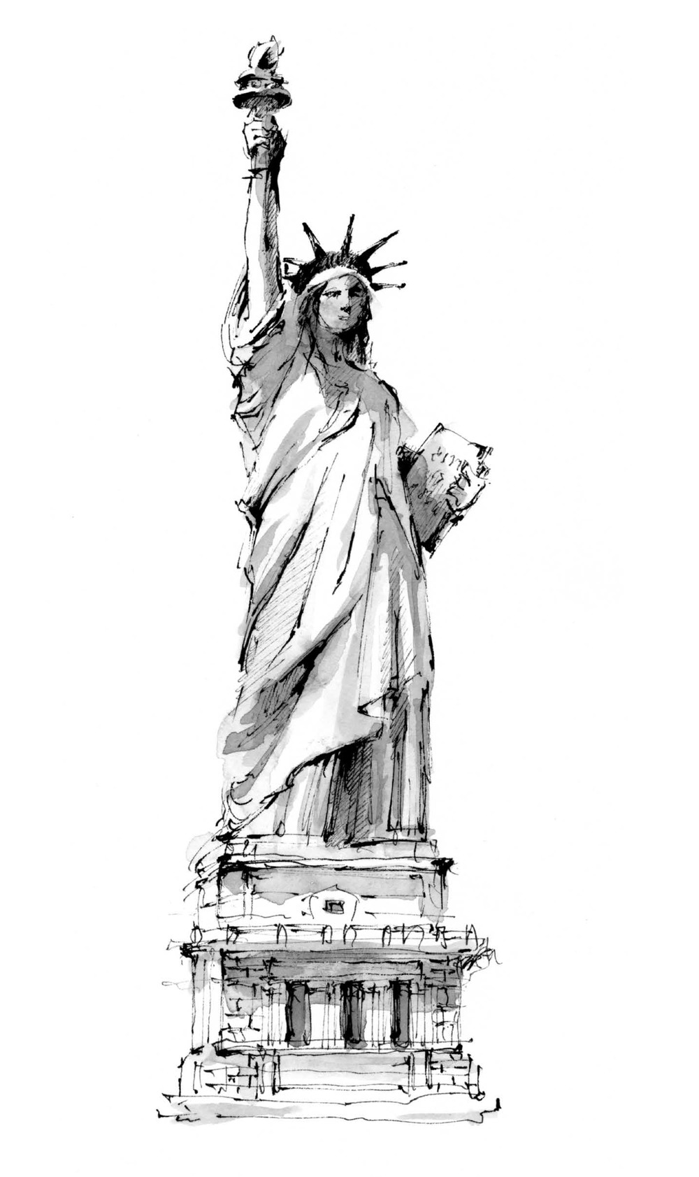 statue of liberty pencil drawing pin on art of pencil statue drawing liberty