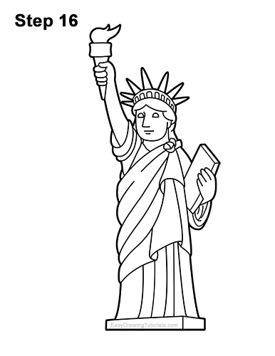 statue of liberty pencil drawing statue of liberty directed drawing at getdrawings free drawing liberty statue pencil of