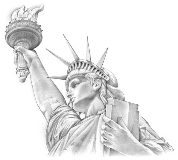 statue of liberty pencil drawing statue of liberty pencil drawing 60x84 cm statue of liberty pencil drawing