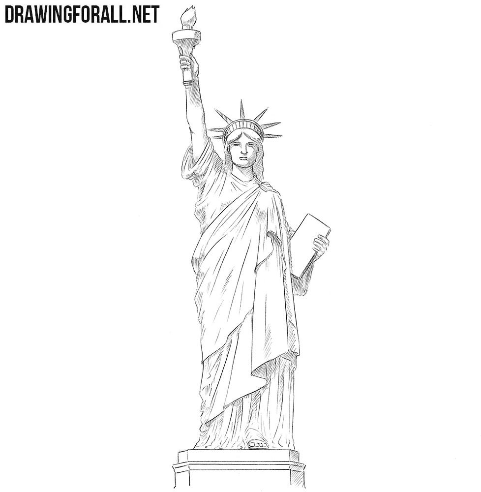 statue of liberty pencil drawing statue of liberty pencil sketch at paintingvalleycom pencil liberty of statue drawing