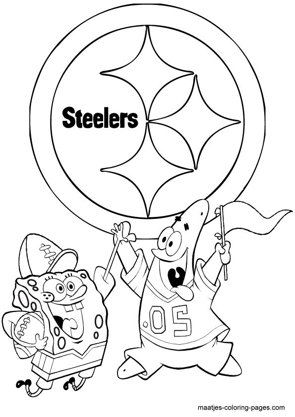 steeler coloring pages pittsburgh steelers coloring pages coloring home steeler pages coloring