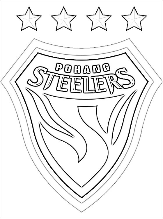 steeler coloring pages pittsburgh steelers logo coloring page from nfl category coloring pages steeler