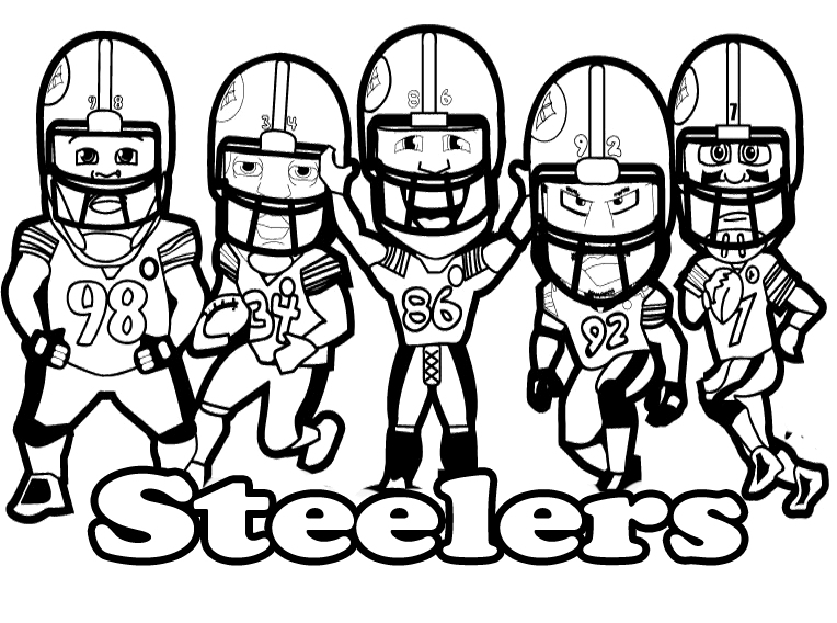 steeler coloring pages pittsburgh steelers logo free coloring pages steeler coloring pages