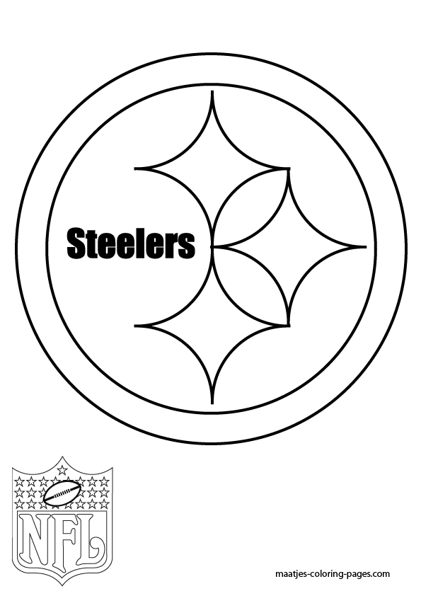steeler coloring pages steelers logo drawing at getdrawings free download pages steeler coloring