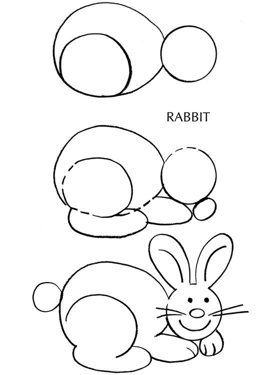 step by step drawing easter bunny pin on art easter by step bunny step drawing
