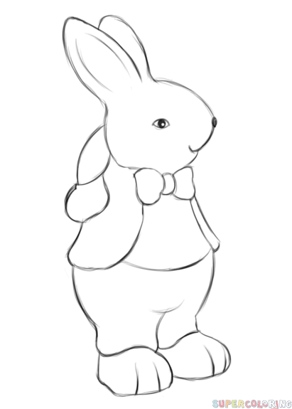 step by step drawing easter bunny rabbits step by step drawing at getdrawings free download bunny easter drawing step step by