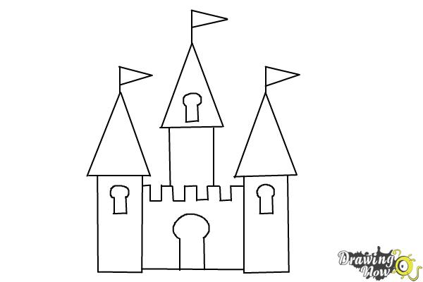 step by step how to draw a castle castle sketch easy at paintingvalleycom explore draw castle how to a step by step
