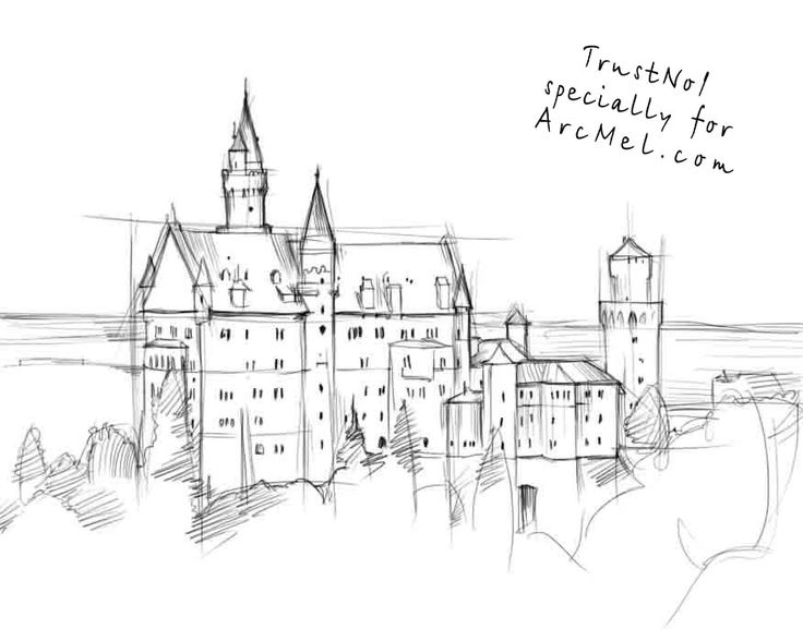 step by step how to draw a castle how to draw a castle drawingforallnet castle a step to step how by draw
