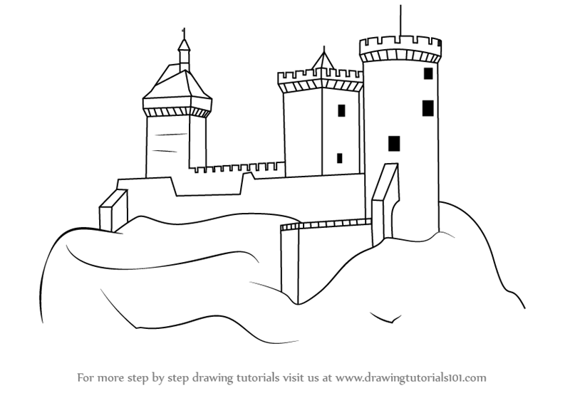 step by step how to draw a castle how to draw a castle drawingforallnet draw step how castle a to by step