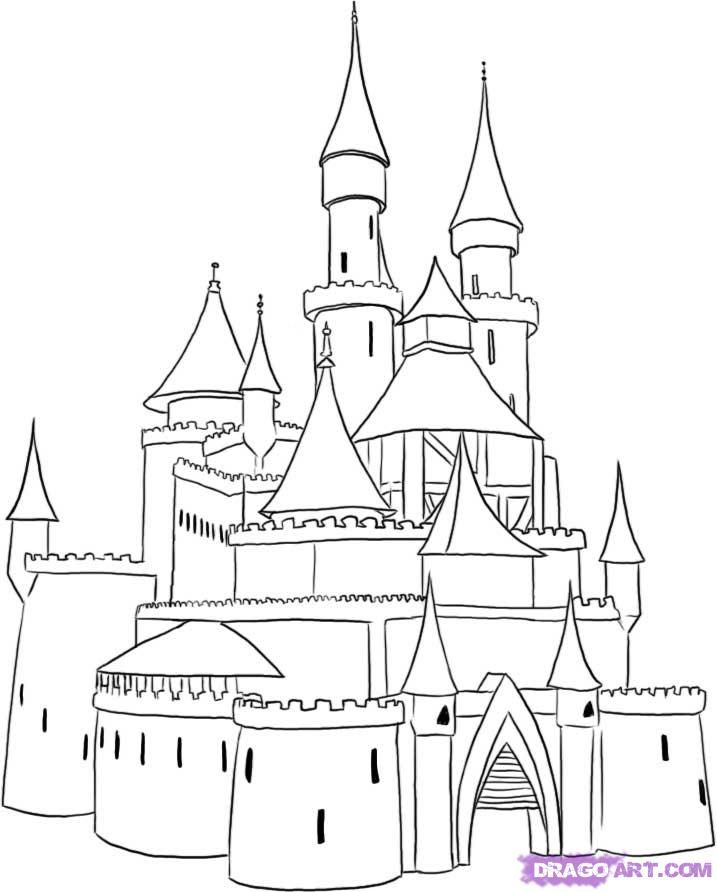 step by step how to draw a castle how to draw a castle step by step castle drawing for kids step how step to a draw castle by