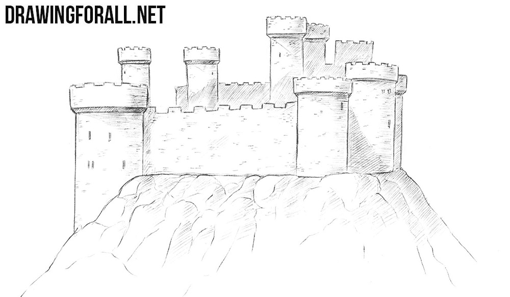 step by step how to draw a castle how to draw a castle step by step castle drawing for kids to by step draw how castle a step