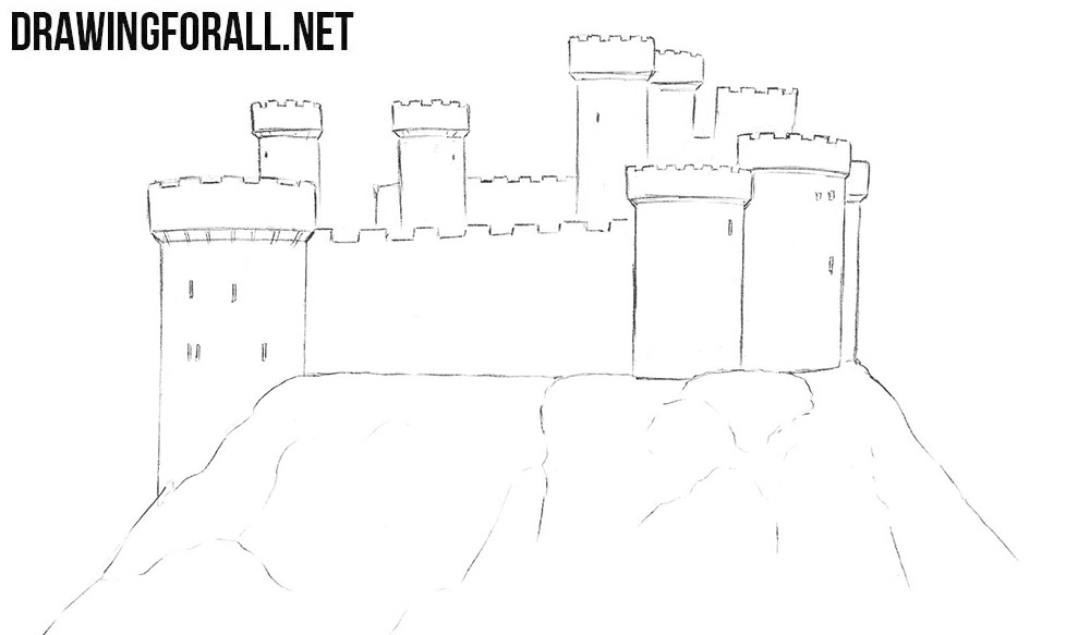 step by step how to draw a castle learn how to draw a castle for kids castles step by step draw castle step a how to step by