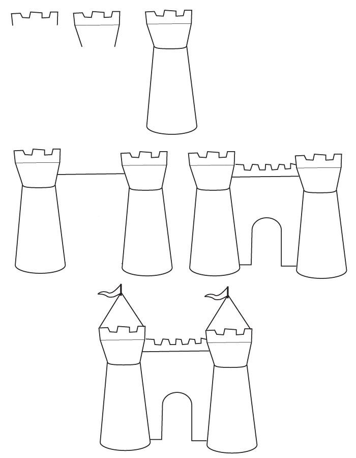 step by step how to draw a castle learn how to draw a medieval castle castles step by step draw how castle step a step by to