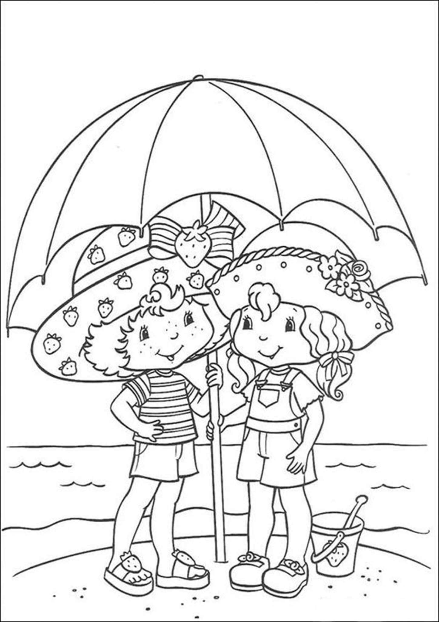 strawberry shortcake coloring games free printable strawberry shortcake coloring page 05 games coloring strawberry shortcake