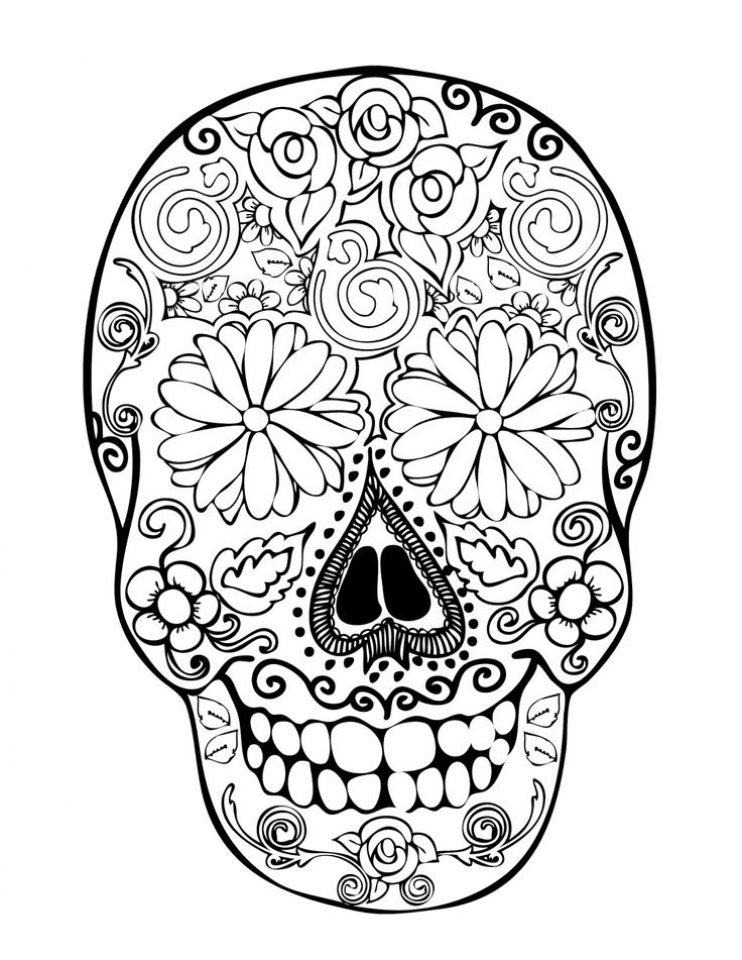 sugar skulls coloring pages get this sugar skull coloring pages to print for grown ups sugar skulls pages coloring
