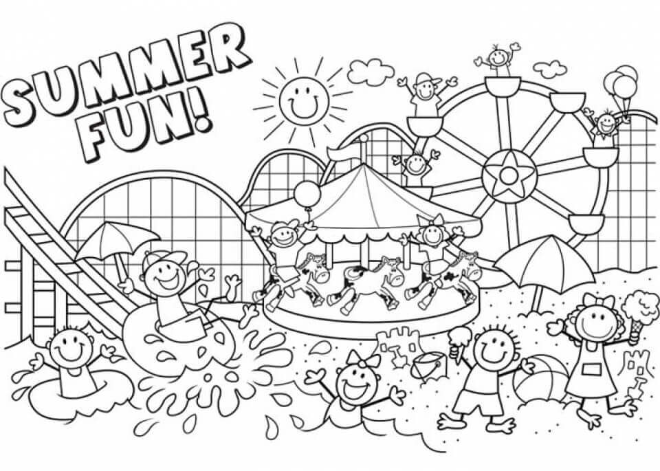 summer color sheets summer coloring pages to download and print for free color summer sheets