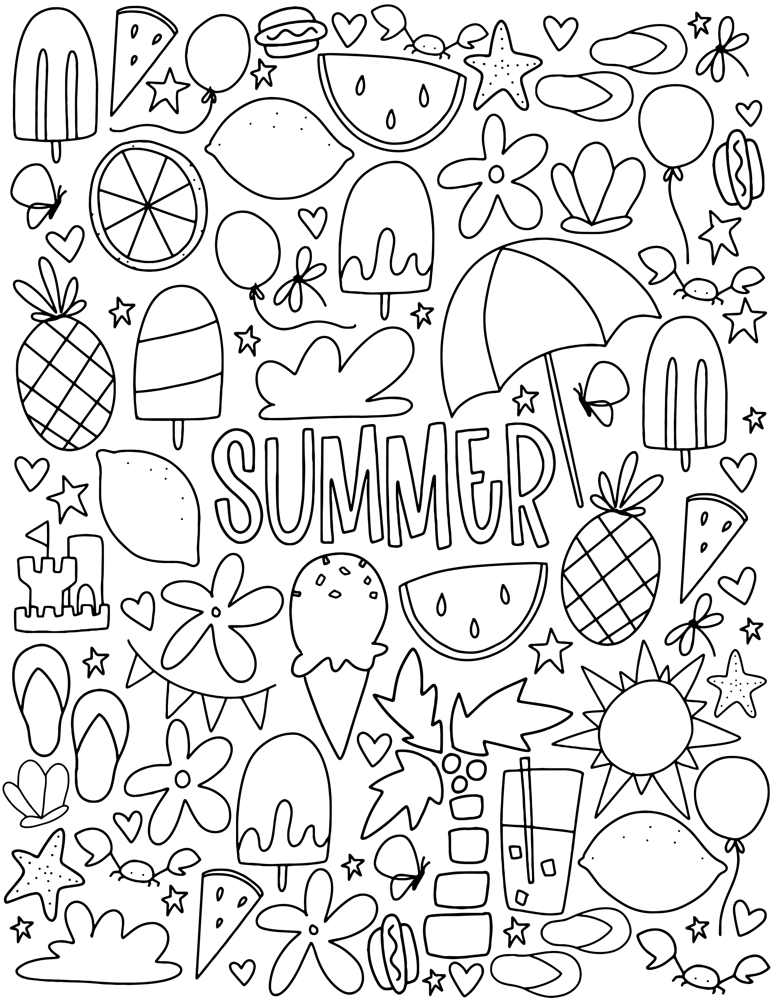 summer color sheets summer holiday coloring pages color sheets summer 1 1