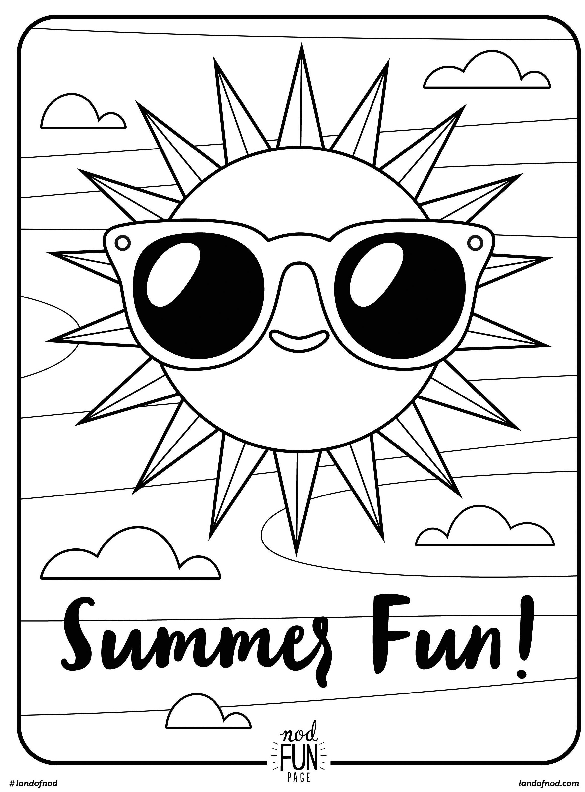 summer coloring sheets summer themed coloring pages at getcoloringscom free summer coloring sheets